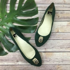 BC Footwear for Modcloth green & gold owl flats